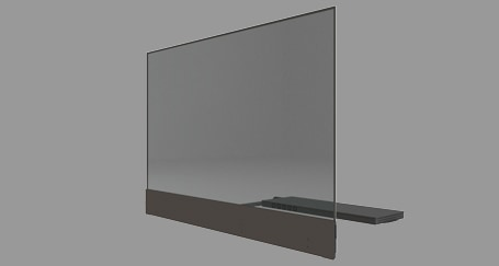 Ghost Oled LG Transparent touchscreen rental